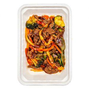 Овощи в воке с говядиной